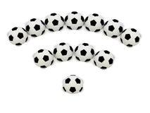 RSS symbol of soccer balls Royalty Free Stock Photos