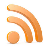 RSS symbol, on white Stock Images