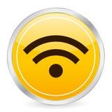 Rss symbol yellow circle icon Stock Photography