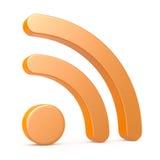 RSS-symbool, op wit Stock Afbeeldingen