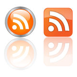 RSS Tasten Lizenzfreie Stockbilder