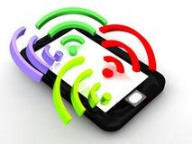 RSS am Telefon Lizenzfreie Stockfotografie