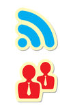 Rss and User Icons Stock Photo