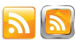 RSS web icons Stock Photos