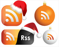 RSS web icons Royalty Free Stock Images
