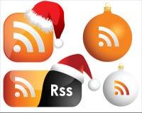 RSS Web-Ikonen Lizenzfreie Stockbilder