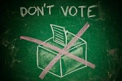 Rösta inte begreppet Arkivbilder
