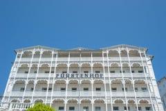 Rstenhof del ¼ dell'hotel FÃ in Sassnitz sull'isola della GEN del ¼ di RÃ al Bal immagine stock libera da diritti