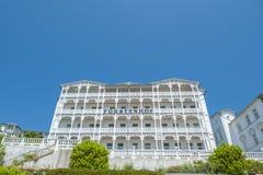Rstenhof del ¼ dell'hotel FÃ in Sassnitz sull'isola della GEN del ¼ di RÃ al Bal fotografia stock