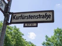 Rstenstraße de ¼ de Kurfà de plaque de rue, infâme et célèbre pour la prostitution de rue Photographie stock libre de droits