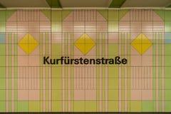 Rstenstraße del ¼ de Kurfà Imágenes de archivo libres de regalías