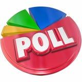 Résultats d'enquête de scrutin votant l'opinion d'élection Images stock