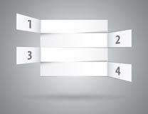 Résumé blanc numéroté rangées dans la perspective Image stock