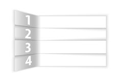 Résumé blanc numéroté rangées dans la perspective Photographie stock libre de droits