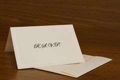 RSVP Card Royalty Free Stock Image