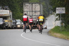 The 2014 RSVP Seattle to Vancouver Cycling Tour Stock Images