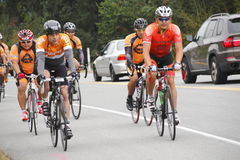 The 2014 RSVP Seattle to Vancouver Cycling Tour Royalty Free Stock Photo