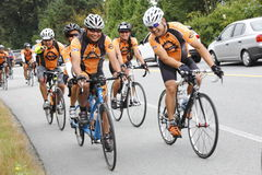 The 2014 RSVP Seattle to Vancouver Cycling Tour Stock Image