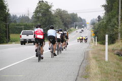 The 2014 RSVP Seattle to Vancouver Cycling Tour Stock Photo