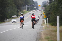 The 2014 RSVP Seattle to Vancouver Cycling Tour Royalty Free Stock Photos