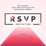 RSVP Uitnodigingsmalplaatje voor de gebeurtenis royalty-vrije illustratie