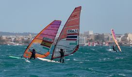 RSX class sailing during regatta royalty free stock image
