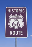 Rt 66 California Sign. Historic California US Route 66 road sign Royalty Free Stock Photo