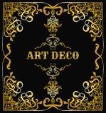 Rt deco border. Retro vector illustration template. Royalty Free Stock Photo
