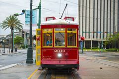RTA Streetcar Canal Line in New Orleans Stock Images