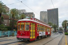 RTA Streetcar Canal Line in New Orleans Stock Photography