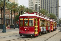 RTA Streetcar Canal Line in New Orleans Stock Photos