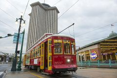 RTA Streetcar Canal Line in New Orleans Royalty Free Stock Photo