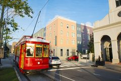 RTA Streetcar Rampart Line in New Orleans Stock Photo