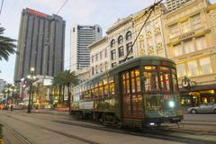 RTA Streetcar St. Charles Line In New Orleans Stock Photography