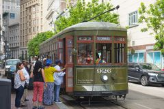 RTA Streetcar St. Charles Line in New Orleans Stock Photo