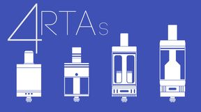 4 RTAs-reeks Royalty-vrije Stock Afbeelding