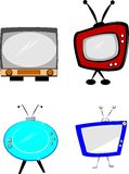 Rtero televisions Stock Photos
