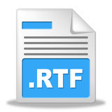 Rtf File Indicates Organized Archiving And Correspondence Royalty Free Stock Images