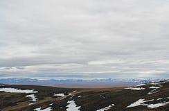 ártico Vista dos montes de Chukotka Fotos de Stock Royalty Free
