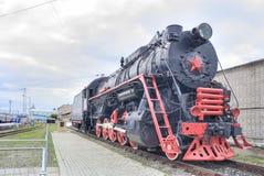 Rtishchevo Station. Old steam locomotive Royalty Free Stock Photos