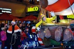 圣诞节游行RTL在布鲁塞尔 库存图片
