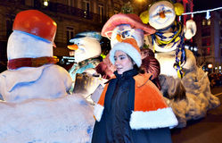 RTL Christmas Parade in Brussels Royalty Free Stock Images