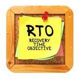 RTO. Κίτρινη αυτοκόλλητη ετικέττα στο δελτίο. Στοκ Εικόνα