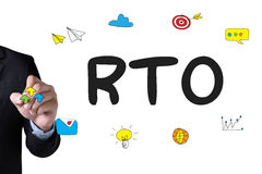 RTO - Recovery Time Objective Royalty Free Stock Photos