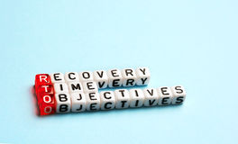 RTO Recovery Time Objectives Stock Photography