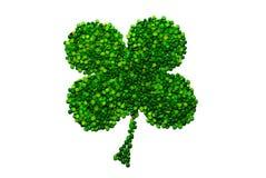 ärtor för leaf för växt av släkten Trifolium fyra isolerade lyckliga gjorda Royaltyfri Bild