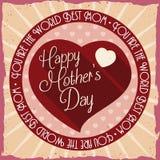 Rétro affiche avec le coeur pour le jour de mère, illustration de vecteur Photos libres de droits