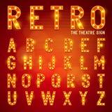 Rétro alphabet d'ampoule Image stock