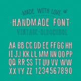 Rétro alphabet fait main Photos libres de droits