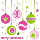 Rétro billes de Noël Image stock